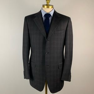 Canali Blazer Brown Super 120 Wool Blend 3 Button